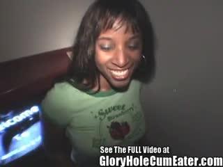 Interracial - Ebony Cameron Sucks & Fucks Strange White Gl...