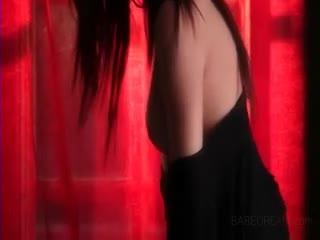 Female Masturbation - Superb brunette softly teasing her perfect pink ...