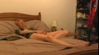 Female Masturbation - Caught Masturbating on Bed