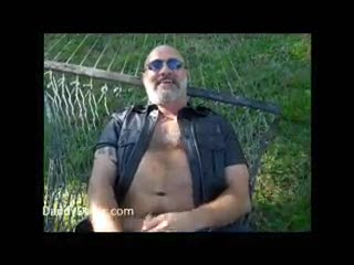 - Hairy Daddy Bear Stroking on a Sunny Day