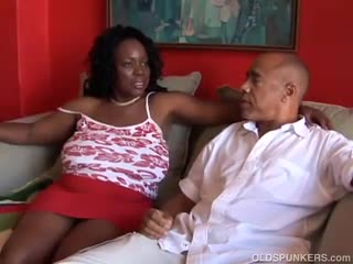 Mature - Busty mature black BBW loves to suck cock