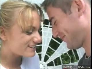Missionnaire - Blonde deep throats and rides cock