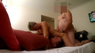 Threesome - Pt2 of Our New Friend with the Big Fat cock.