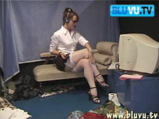 Striptease - Sexy Secretary In Stockings - Webcam Model - Por...