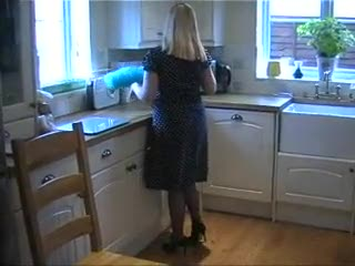 - Big Tits British MILF In Blue Stockings And Pant...