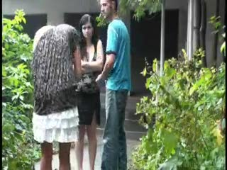 Exhibe - Risky public threesome with a pregnant woman WAY...
