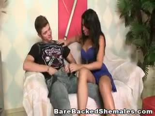 - Lovely Shemale Gets Rammed On The Sofa