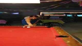 Flashing/Public - Slutty Blue Dress and Billiards