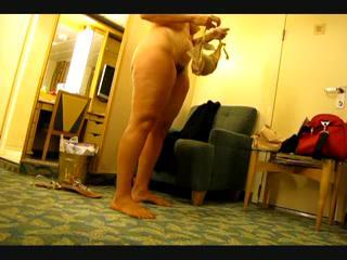 BBW/Chubby - wife gets dressed
