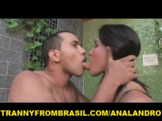 Latina - Green Eyes Shemale Latina Anal Fucked by Straigh...