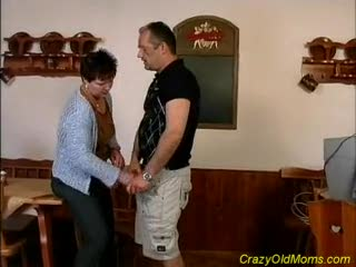 Mature - Crazy old mom gets fucked hard