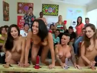 Dildo - Wild pornstar group college party fucking of toy...