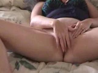 Female Masturbation - MILF Rubs Clit and Fingers herself