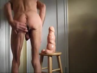Bizzare - Ass Stretching with the Huge Walrus Penis Dildo