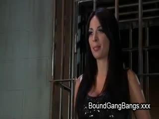 Gang Bang - Giant natural boobs double penetration