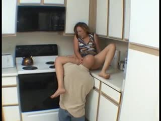 Cum Shot - Hot Wife bang hard in the kitchen
