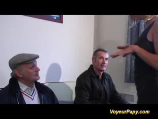 Voyeur - Papy and his friend fucking