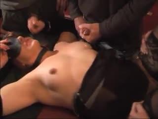 Gang Bang - Slutwife gets gangbanged by 15 men