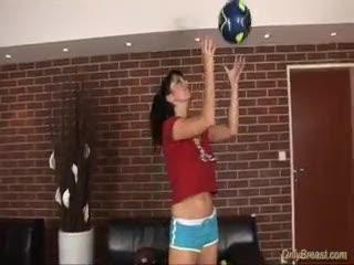 Big Tits - Big juggs babe squizing hard