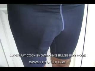 Gay - SUPER BIG BULGE SHOWING HIS COCK