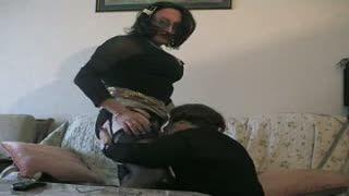 Mutual Masturbation - two crossdressers playing
