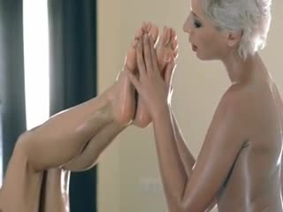 Lesbian Sex - Horny pornstars play with their strap on