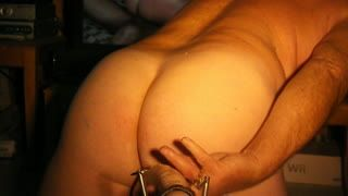 Estilo perrito - Riding my 18 inch dildo hard