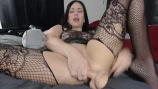Squirting - Paradise Kitten fucks really tight ass and squir...