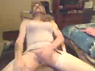 Male Masturbation - SissyPaul jerks off wear pink dress, makeup, and...