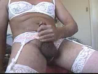 Ejaculation - Big Squirt in lingerie