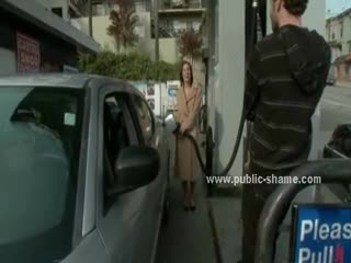 - Babe in gas station taken by convince by nasty g...