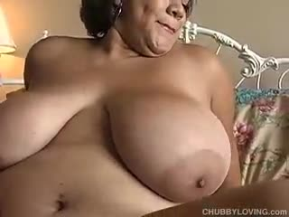 - Sexy BBW has some huge tits