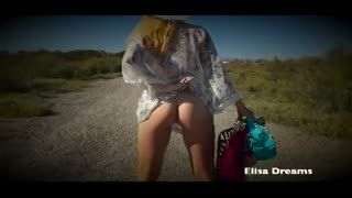 Flashing/Public - Naked under my transparent outfit. Peace and Lov...