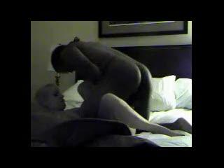 Interracial - Blond slut loves the big black cock.