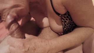 Femme dessus - horny housewife enjoys a fat cock