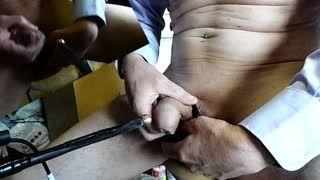 BDSM - amazing electro peehole cock POV zoom HD