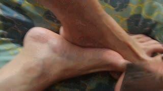 Foot Job - cum on foot