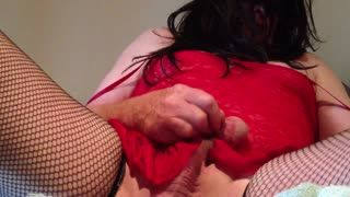 Shemale - Jamie gets so hard when camming