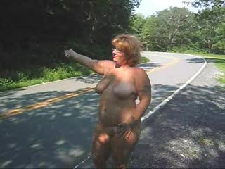 Flashing/Public - Hitchiking Naked