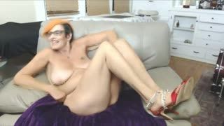 Doggy Style - grandma is ready to tickle your fantasy