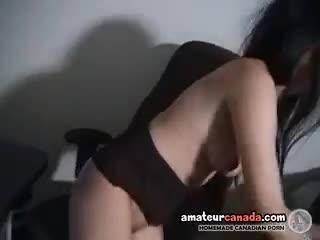 Asian - Geeky asian in glasses fingering wet pussy havin...