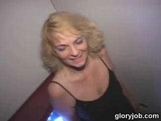 Dogging - Blonde Gloryhole Blowjob