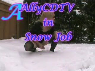 Shemale - AllyCDTV in Snow Job