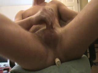 Dildo - Making myself cum with a vibrator in my ass.