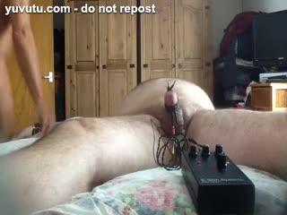 Missionarsstellung - Shocking bondage cock