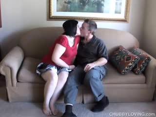 BBW/Chubby - Big tits BBW gives a good sloppy blowjob