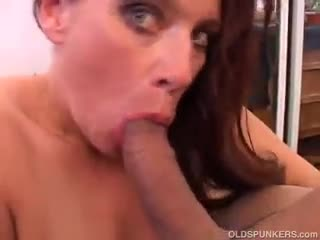 Mature - Gorgeous mature babe loves to suck cock
