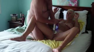 Trio - Fingers & 2 Headed Toy Fuck. Pt 2.