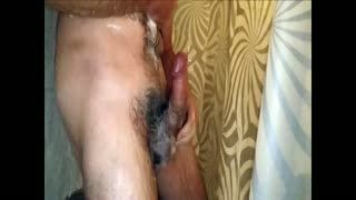 Male Masturbation - Shower and cum urethra plug