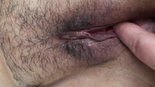 Masturb. masculine - Hairy pussy dp fingering horny wife